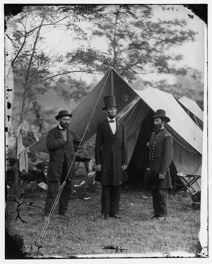 Allan Pinkerton, President Lincoln, and General John A. McClernand - Antietam, MD, October 3, 1862